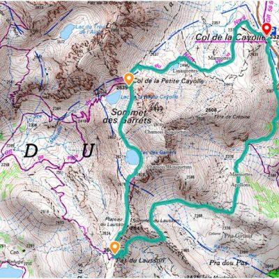 Carte du circuit des lacs