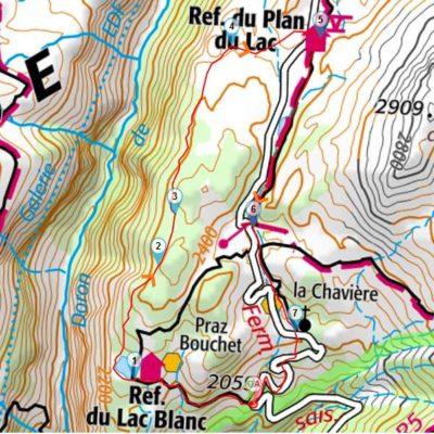 Carte lacs de Bellecombe